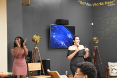 Miss Jordan Plus World 2018, Dina Alsaid, and founder of Bold Babes, Shampaigne Graves